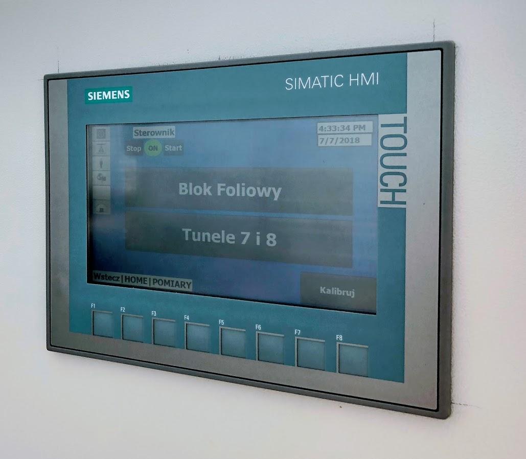 Sterownik klimatu tunelu foliowego 1